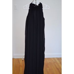 Black flowy maxi halter dress